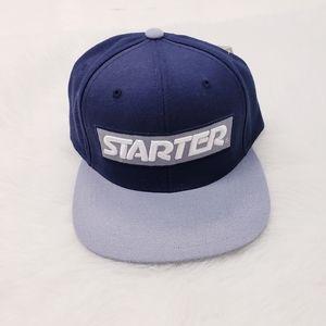 Starter Snapback Cap Navy & Grey